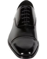 Prada - Black Cap Toe Balmoral for Men - Lyst