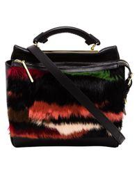 3.1 Phillip Lim Multicolor Ryder Fur and Leather Satchel