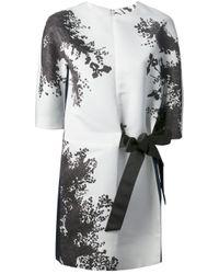 Albino White Cherry Blossom Print Dress
