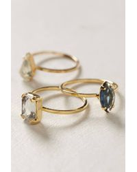 Anthropologie - Metallic Ring S3 Vintage Stack - Lyst