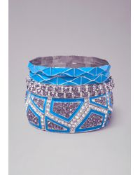 Bebe - Blue Crystal Enamel Bangles - Lyst