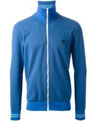 Bottega Veneta Blue Funnel Neck Track Jacket for men