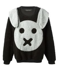 Daniel Palillo Black Bunny Boxy Fleece Sweatshirt
