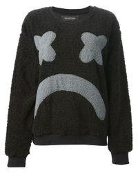 Daniel Palillo Black Sad Face Sweater