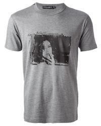 Dolce & Gabbana Gray Monica Bellucci Tshirt for men