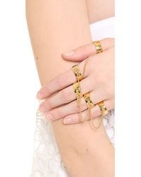 Eddie Borgo - Metallic Five Finger Ring - Gold - Lyst