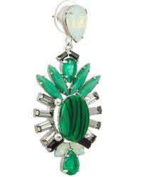 Elizabeth Cole - Green Hematiteplated Swarovski Crystal Earrings - Lyst
