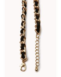 Forever 21 - Black Edgy Faux Gemstone Bib Necklace - Lyst