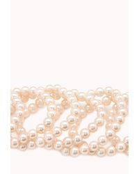 Forever 21 - Pink Opulent Faux Pearl Bracelet Set - Lyst