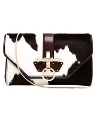 Givenchy Brown Obsedia Ponyskin and Leather Clutch Bag