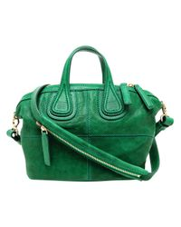Givenchy Green Nightingale Micro Leather Bag