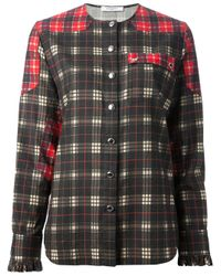 Givenchy Green Patchwork Plaid Shirt