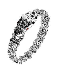 John Hardy - Metallic Batu Naga Dragon Black Sapphire Bracelet - Lyst