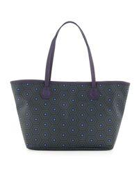 Jonathan Adler - Blue Duchess Printed PVC Small Tote Bag True Navy - Lyst