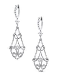 KC Designs | Metallic Long Diamond Chandelier Earrings | Lyst