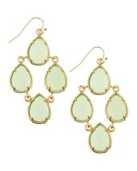 Kendra Scott | Green Pearcut Chandelier Earrings Chalcedony | Lyst