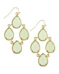 Kendra Scott | Green Pearcut Chandelier Earrings Chalcedony | Lyst