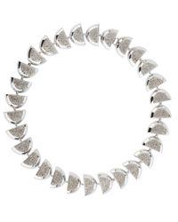 Lele Sadoughi | Metallic Pave Eclipse Necklace | Lyst