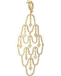 Loree Rodkin - Metallic Wave 18karat Gold Diamond Earrings - Lyst