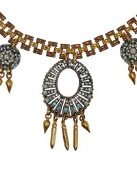 Lulu Frost - Blue Crystal Roma Necklace - Lyst