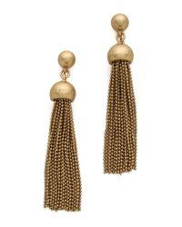 Marc By Marc Jacobs Metallic Big Tassel Drop Earrings