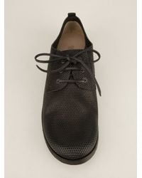 Marsèll - Black Perforated Derby Shoe for Men - Lyst