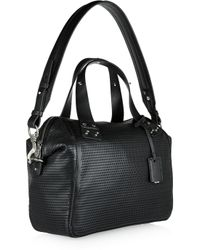 McQ Black Redchurch Perforated Leather Shoulder Bag
