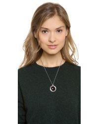 Pamela Love Black Dial Pendant Necklace