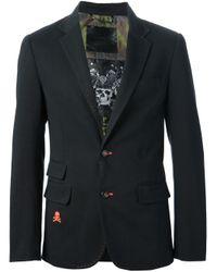 Philipp Plein Black Logo Detail Blazer for men
