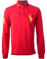 Ralph Lauren Blue Label Red Big Pony Polo Shirt for men