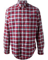 Ralph Lauren Blue Label Red Plaid Shirt for men