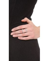 Rebecca Minkoff - Metallic Pave Split Ring - Lyst