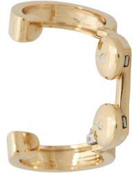 Repossi - Metallic Gold Two Ring Large Loops Berbère Ear Cuff - Lyst