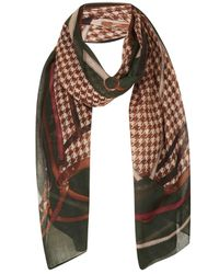 TOPSHOP - Green Heritage Belt Scarf - Lyst