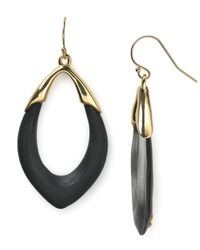 Alexis Bittar | Black Lucite Orbit Link Earrings | Lyst