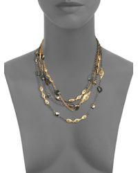 Alexis Bittar - Metallic Multistrand Labradorite Pyrite Crystal Necklace - Lyst