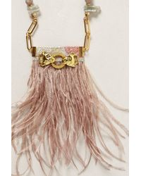 Anthropologie | Pink Windswept Ostrich Necklace | Lyst