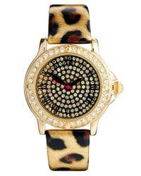 ASOS River Island Metallic Leopard Bling Face Watch