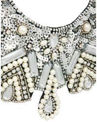 ASOS - Metallic Pearl Bib Necklace - Lyst