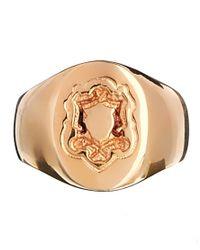 ASOS | Metallic Rose Gold Plated Pinky Ring | Lyst