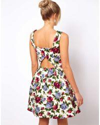 ASOS - Multicolor Oasis Rose Print Dress - Lyst