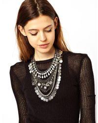 ASOS | Metallic Premium Indian Coin Necklace | Lyst