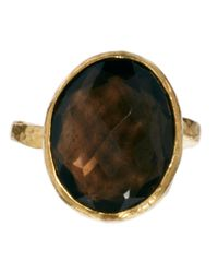 ASOS - Brown Ottoman Hands Small Oval Ring - Lyst