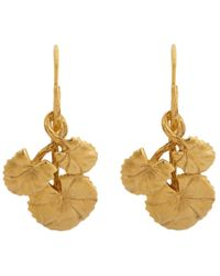 Aurelie Bidermann - Metallic Nympheas Small Drop Earrings - Lyst