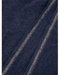 Brunello Cucinelli - Blue Stripe Detail Scarf for Men - Lyst