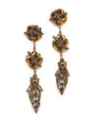 Erickson Beamon | Metallic Heart Of Gold Drop Earrings | Lyst