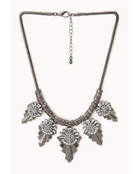 Forever 21 | Gray World Traveler Bib Necklace | Lyst
