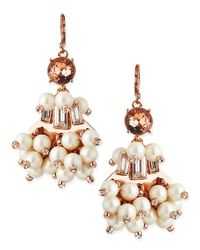 kate spade new york - Pink Clink Clink Pearly Beaded Earrings - Lyst
