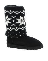 Love From Australia Black Cozi Star Boots