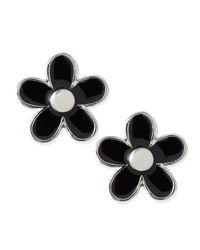 Marc By Marc Jacobs - Black Daisy Stud Earrings - Lyst